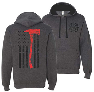 Axe Flag Thin Red Line Hooded Sweatshirt