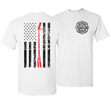 Load image into Gallery viewer, Halligan Thin Red Line Firefighter T-Shirt