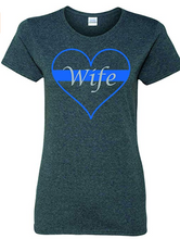Load image into Gallery viewer, Patriot Apparel Thin Blue Line Police Wifey T-Shirt