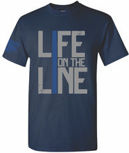 Load image into Gallery viewer, Life on the Line Police T-Shirt