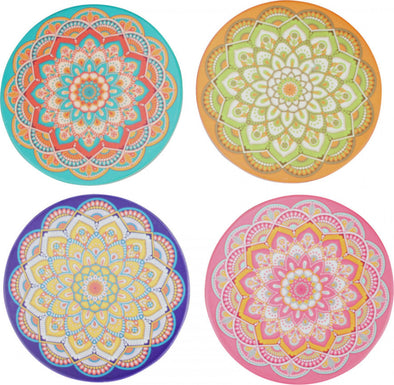 Tropical Bright Resin Coaster Sets- Asst Designs