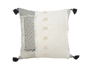 Citra Patchwork and Tassel Cushion