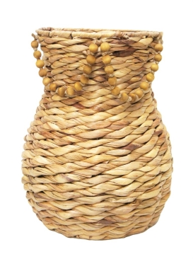 Louis Seagrass Basket with Beads- 2 Sizes