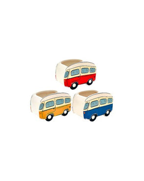vw combi van ceramic plant pot