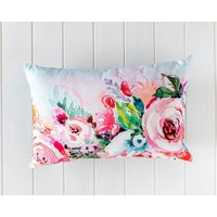 Peony Embroidered Cushion