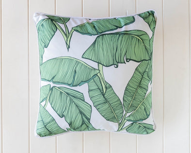 banana leaf tropical cushion