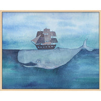 Whale Below Wall Art