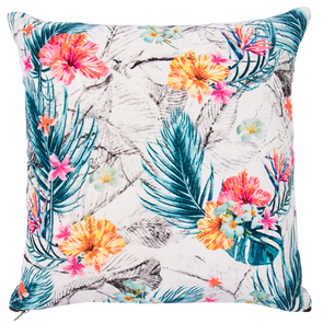 hibiscus velvet cushion