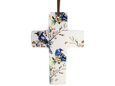 ceramic hanging cross wall decor