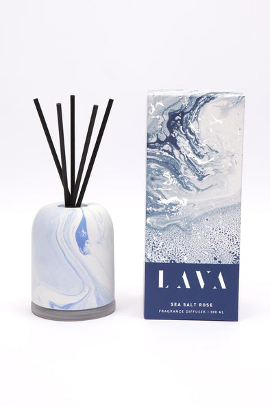 sea salt rose reed diffuser with ceramic cover