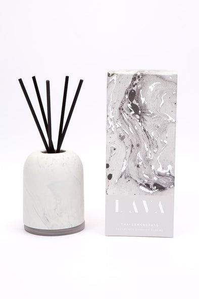 thai lemongrass reed diffuser with ceramic cover