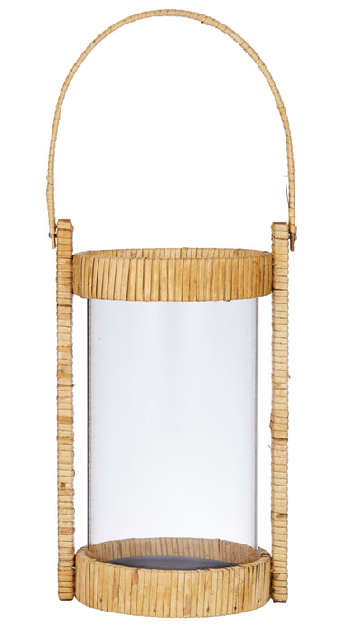 bamboo and glass candle lantern
