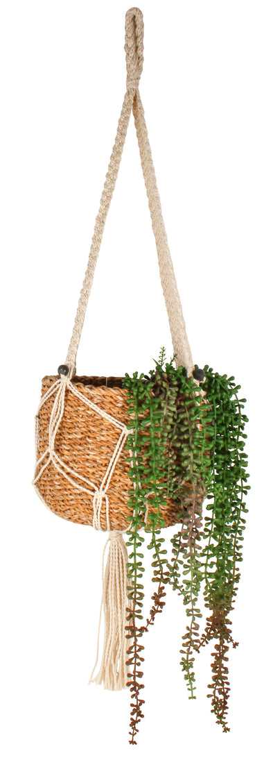 Aura Macrame and Seagrass Pot