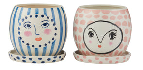 Fifi and Fran Face Pots