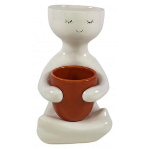 cute people planter pot