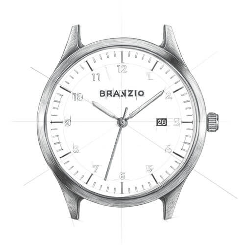 Branzio watch 45mm graphic image