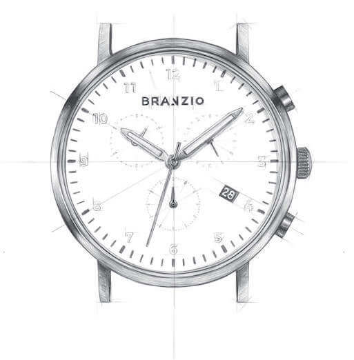 Branzio watch 42.5mm graphic image