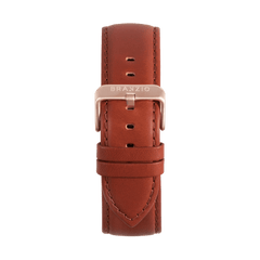 Classic Leather with Rose 22MM