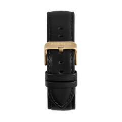 Treasure Black Leather 22MM