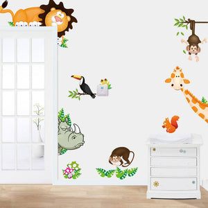 Jungle Friends Wall Stickers Nirsery/Kid Room