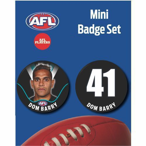 Mini Player Badge Set - Port Adelaide Power - Dom Barry