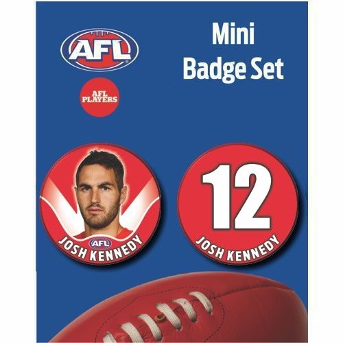 Mini Player Badge Set - Sydney Swans - Josh Kennedy
