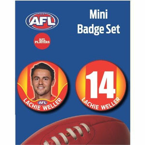 Mini Player Badge Set - Gold Coast Suns - Lachie Weller