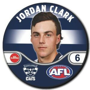 2020 AFL Geelong Player Badge - CLARKE, Jordan