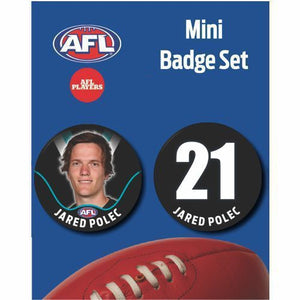 Mini Player Badge Set - Port Adelaide Power - Jared Polec