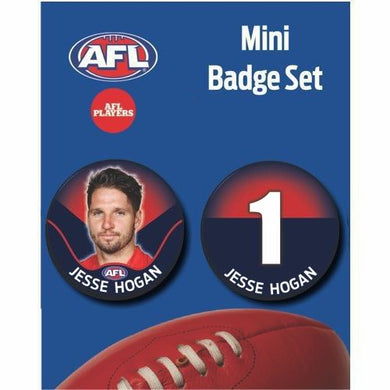 Mini Player Badge Set - Melbourne Demons - Jesse Hogan