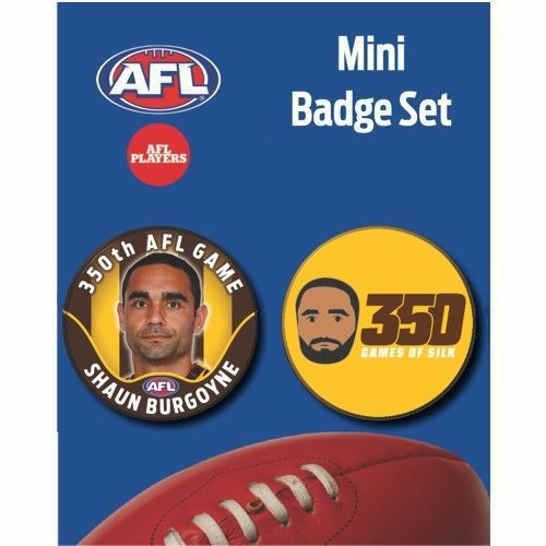 Mini Player Badge Set - Shaun Burgoyne 350th AFL Game (A)