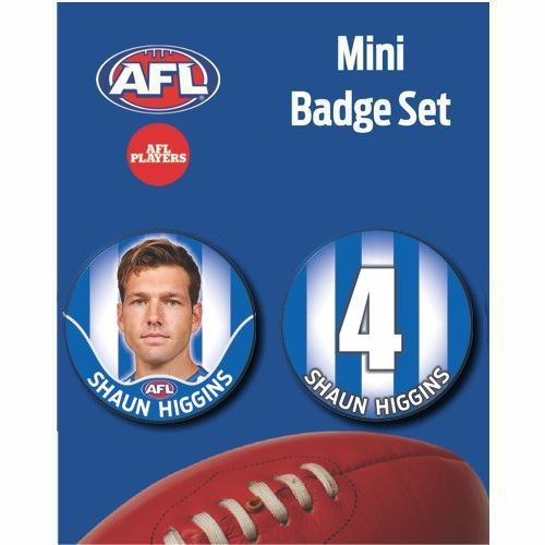 Mini Player Badge Set - North Melbourne Kangaroos  - Shaun Higgins