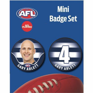 Mini Player Badge Set - Geelong Cats - Gary Ablett