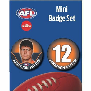Mini Player Badge Set - GWS Giants - Jonathon Patton