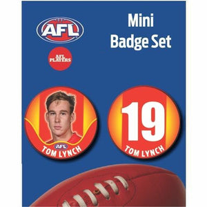 Mini Player Badge Set - Gold Coast Suns - Tom Lynch