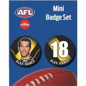 Mini Player Badge Set - Richmond Tigers - Alex Rance