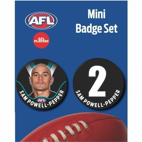 Mini Player Badge Set - Port Adelaide Power - Sam Powell-Pepper