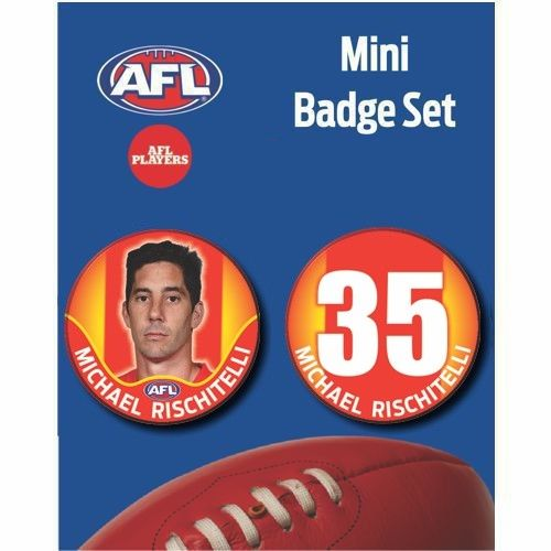 Mini Player Badge Set - Gold Coast Suns - Michael Rischitelli
