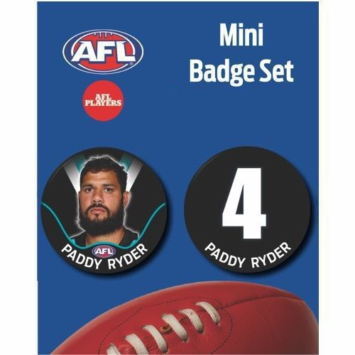 Mini Player Badge Set - Port Adelaide Power - Paddy Ryder