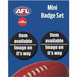 Mini Player Badge Set - North Melbourne Kangaroos - Paul Ahern