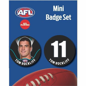 Mini Player Badge Set - Port Adelaide Power - Tom Rockliff