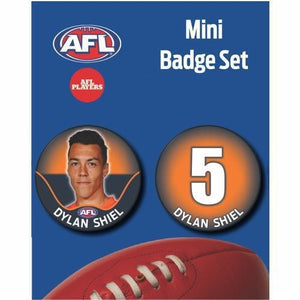 Mini Player Badge Set - GWS Giants - Dylan Shiel