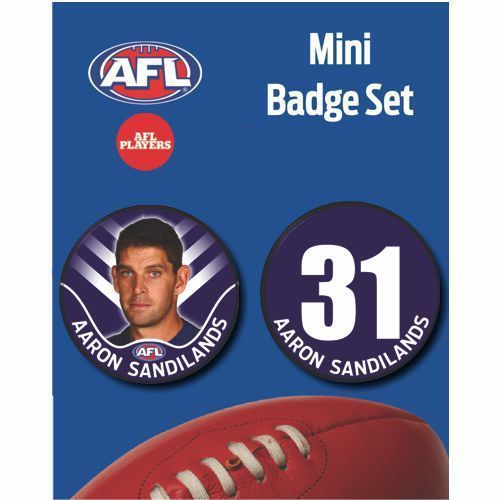 Mini Player Badge Set - Fremantle Dockers - Aaron Sandilands