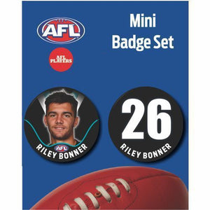 Mini Player Badge Set - Port Adelaide Power - Riley Bonner