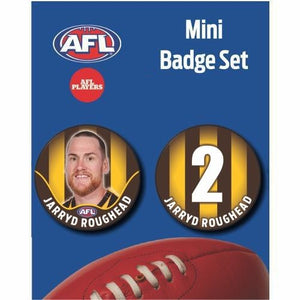 Mini Player Badge Set - Hawthorn Hawks - Jarryd Roughead