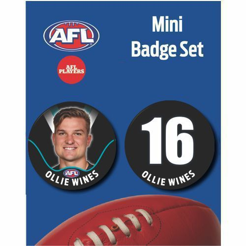 Mini Player Badge Set - Port Adelaide Power - Ollie Wines