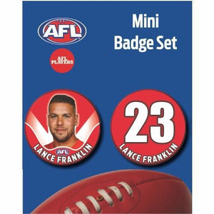 Mini Player Badge Set - Sydney Swans - Lance Franklin
