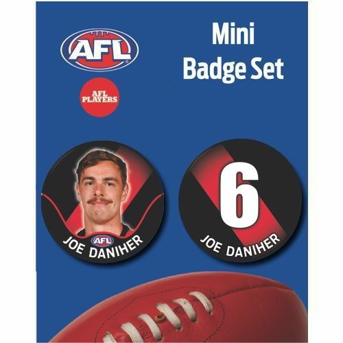 Mini Player Badge Set - Essendon Bombers - Joe Daniher