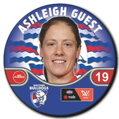 2020 AFLW Western Bulldogs Player Badge - GUEST, Ashleigh