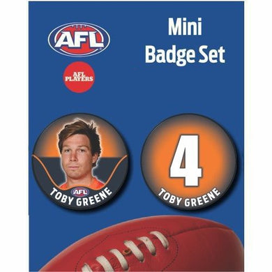 Mini Player Badge Set - GWS Giants - Toby Greene